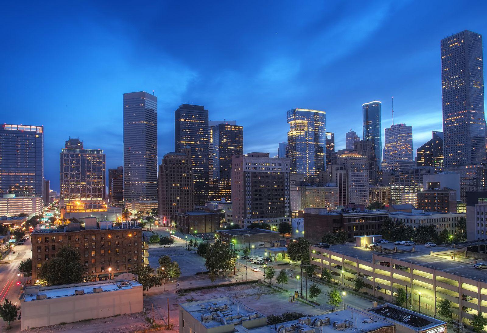 Houston Texas Usa Skyline Stock Photo - Download Image Now